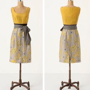 Anthropologie Dresses - Edme and Estelle Goldenrod Blooming Dress Size 4
